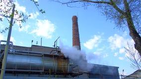 Aire de la contaminación, empresas industriales almacen de metraje de vídeo