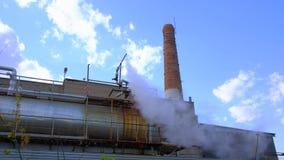 Aire de la contaminación, empresas industriales almacen de video
