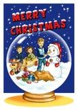 Aire de la Navidad stock de ilustración