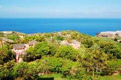 Aire de loisirs avec des villas d'hôtel de luxe Images stock