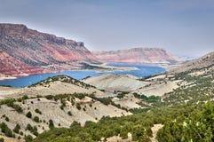 Aire de loisirs nationale de gorge flamboyante et la rivière Green, Utah Photographie stock libre de droits