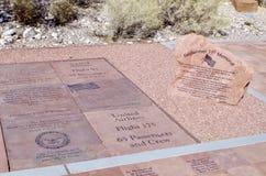 Aire de pique-nique au centre d'information, région rouge de conservation de roche, Nevada photographie stock