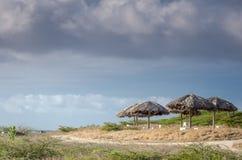 Aire de repos par la plage dans Aruba Photos libres de droits