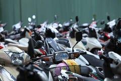 Aire de stationnement de motocyclette Images libres de droits