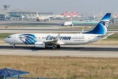 Aire de SU-GCZ Egipto, Boeing 737-866 Foto de archivo