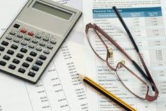 Aire de travail de comptable Photos libres de droits