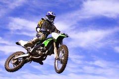 Aire del jinete de Moto x Imagen de archivo