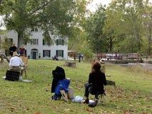 Aire del plein del en de los artistas en el parque Foto de archivo