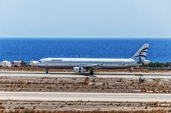 Aire egeo de la salida de Santorini Imagen de archivo