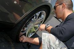 Aire en el neumático Foto de archivo libre de regalías