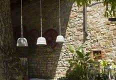 Aire libre de un restaurante del viejo estilo en la colina florentina imagen de archivo libre de regalías
