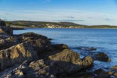 Aire libre hermoso en el mar adriático en Croacia Europa Imágenes de archivo libres de regalías