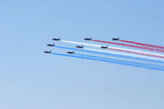 Aire-muestre el fromation del jet Fotografía de archivo