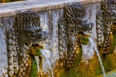 Aire Panas Banjar de las aguas termales - isla Indonesia de Bali imagen de archivo