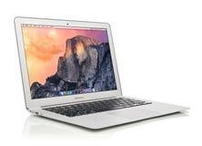 Aire principios de 2014 de Apple MacBook Imagenes de archivo