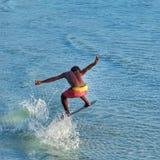 Aire que practica surf Fotos de archivo libres de regalías