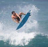 Aire que practica surf Imágenes de archivo libres de regalías