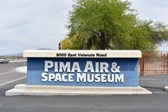 Aire y museo espacial de Pima Foto de archivo