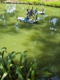 Aireación del agua Fotos de archivo libres de regalías