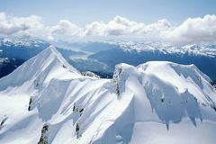 Aireal photo of Mount Garibaldi Royalty Free Stock Image