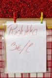 Airelle rouge fraîche de la Finlande sur le marché en plein air Fruit finlandais Photos libres de droits