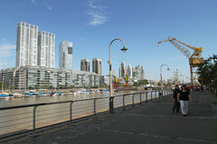 aires阿根廷buenos madero puerto 免版税库存图片
