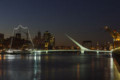 aires Argentina bridżowa buenos madero puerto s kobieta Fotografia Stock