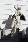aires buenos墓地耶稣recoleta雕象 图库摄影