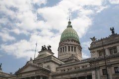 airesbuenos som bygger parlamentet Arkivfoto