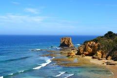 Aireys wpusta oceanu Wielka droga Zdjęcia Royalty Free