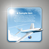 Airfare banner Royalty Free Stock Images