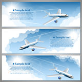 Airfare, banner set Stock Image