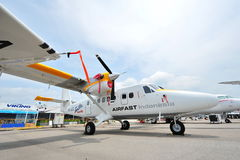 Airfast Indonesia Viking's Twin Otter Series 400 aircraft on display at Singapore Airshow Stock Image