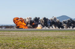 Airfield Explosion Royalty Free Stock Photography