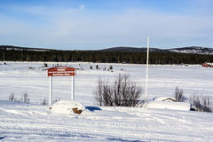 Airfield in Inari, Finland Stock Photography