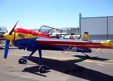 airfield kasserad gammal nivåpropeller för förrådsplats Royaltyfria Bilder