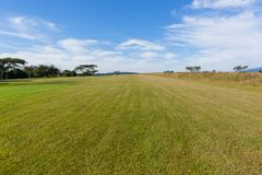 Airfield Grass Landing Take Off Perspective Countryside Stock Photography