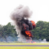 Airfield planned explosion Stock Image