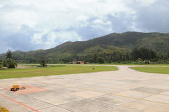 Airfield in Seychelles Stock Images