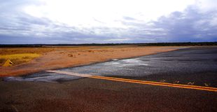 airfieldrenmark Royaltyfri Fotografi