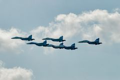 Airfighters SU-27 display of opportunities Royalty Free Stock Photo