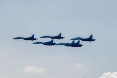 Airfighters SU-27 display of opportunities Stock Images