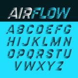 Airflow alphabet Stock Images