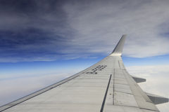 Airfoil of boeing b737 jet aircraft Royalty Free Stock Photos