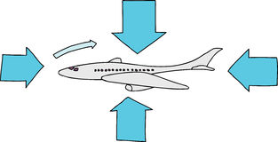 Airfoil Plane Diagram Stock Photos
