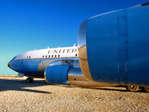 Airforce 1 707. Retired Air Force One - Boeing 707- at Pima County Air Museum Stock Image