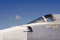 Airforce day background. Cabin of fighting jet stock photo