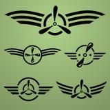 Airforce emblemata set Zdjęcia Royalty Free