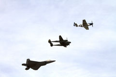 Airforce Heritage Flight Stock Photography