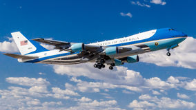 Airforce One. This is a shot of Airforce One departing from Phoenix, Sky Harbor Airport Stock Photography